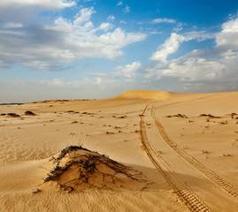 Sand dunes on sunrise, Mui Ne, Vietnam