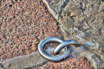 metal rings on the floor