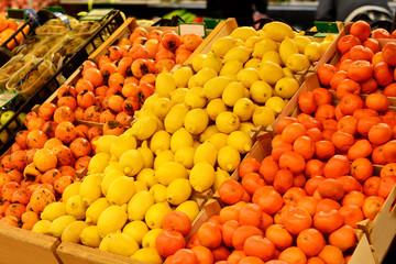 Fruit market. Supermarket