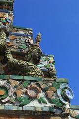 Statue Angel at Prang Wat Arun in Bangkok