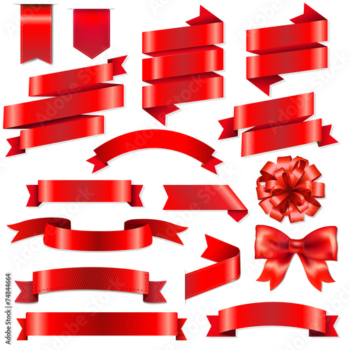Red Ribbons Big Set - 74844664