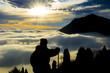 doğa ve insan&sisli dağlar