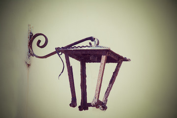 old lamp frame