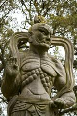 Close view of a buddha statue