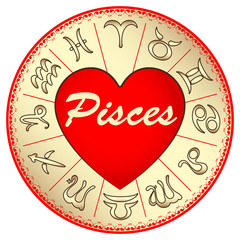 the zodiac sign Pisces, for lovers on Valentine's day