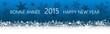 Bannière bleue 2015 avec flocons