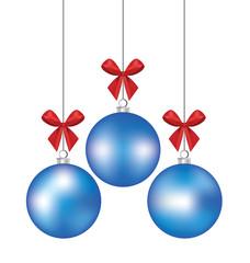 Christmas ball. Vector illustration.