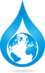 Logo, Erde, Weltkugel, Tropfen, Wasser