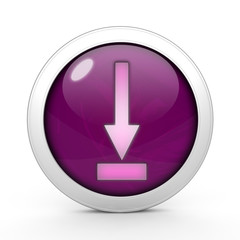 download circular icon on white background