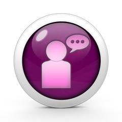 forum circular icon on white background