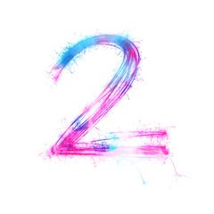 Twinkle light alphabet number 2.