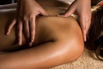 Massage closeup