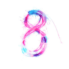 Twinkle light alphabet number 8.