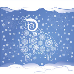 снежная овечка