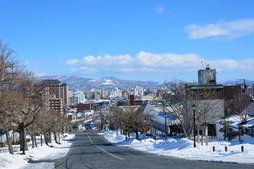 Nijukkenzaka in the city of Hakodate, Hokkaido