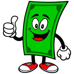 Dollar with Thumbs Up