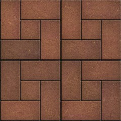 Brown Pavement - Rectangular and Small Square.