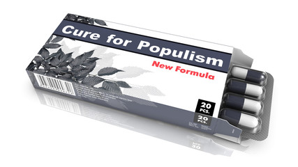 Cure for Populism - Blister Pack Tablets.