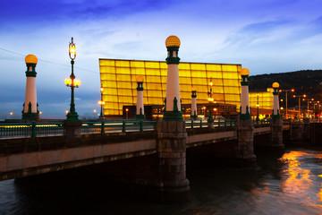 View of Sant Sebastian in evening