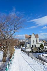 Cityscape of Motomachi district in Hakodate, Hokkaido