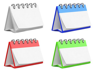 Colorful Blank Desktop Calendars.