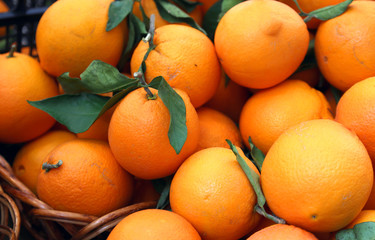 juicy oranges full of vitamin C for sale at the market