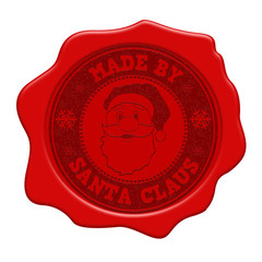 Made by Santa Claus red wax seal
