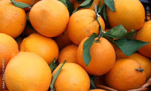 canvas print picture oranges full of vitamin C for sale at the market