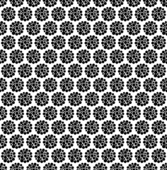 Black and white geometric seamless pattern with dot.