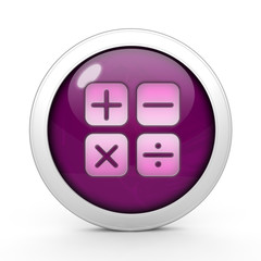 Calculate circular icon on white background