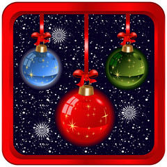 Christmas bulbs icon