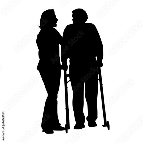 alter Mann mit Pflegerin - 74849886