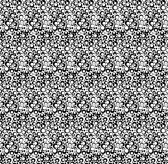 Black and white geometric seamless pattern with dot, abstract ba