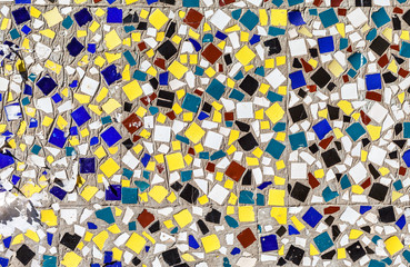Ceramic colorful tiles mosaic abstract composition pattern backg