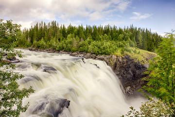 Storforsen waterfall in Sweden