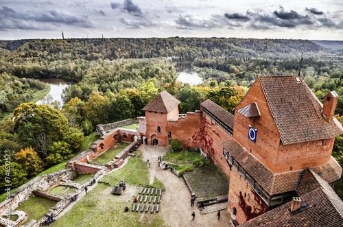 Aluminium Vestingwerk Burg Turaida mit Gauja