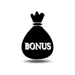 money bag bonus icon
