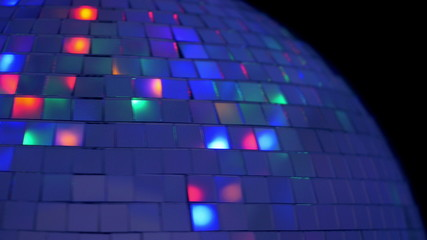 Disco ball with reflected moving rays. 4K UHD 2160p footage.