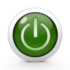 power circular icon on white background