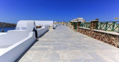 Pedestrian way, Oia, Santorini, Greece
