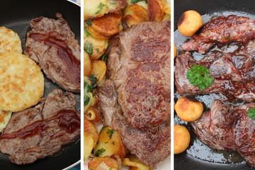 Viandes :Steak Frites - Onglet - Entrecôte - Bavette