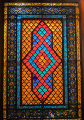 Stained glass in Shirvanshah's Palace