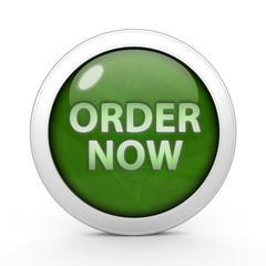 Order now circular icon on white background
