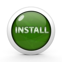 Installation circular icon on white background