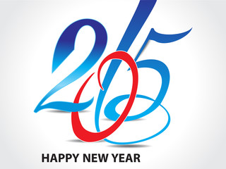colorful happy new year 2015 text background
