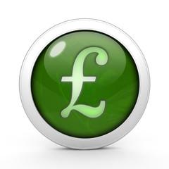Pound circular icon on white background