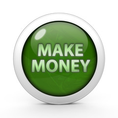 Make money circular icon on white background