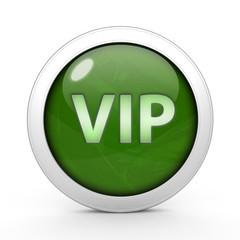 Vip circular icon on white background