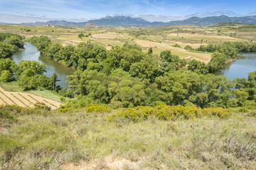 Meander of Ebro river, La Rioja (Spain)