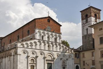 Santa Maria Forisportam Church in Lucca, Italy